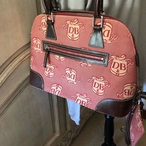 Red and brown Dooney and Bourke Purse